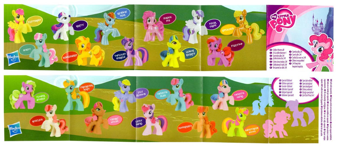 My Little Pony Mlp 2011 Wave 1 Blind Bag Insert Collector Guide List