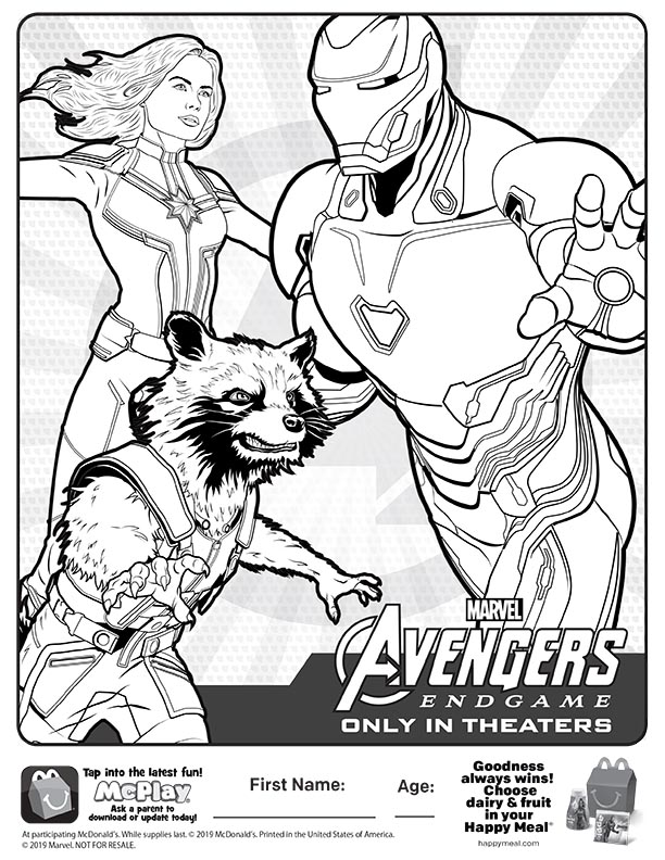 Marvel Avengers Endgame Coloring Pages - Coloring Ideas