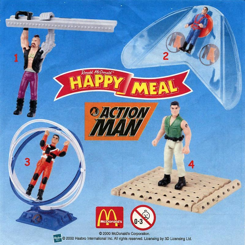 Mcdonald S Happy Meal Toys 2000 Action Man Kids Time