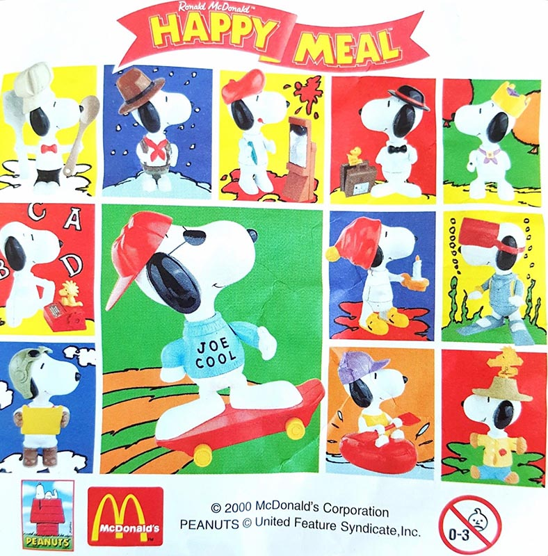 c3b7e8b0f2 McDonald s Happy Meal Toys March 2000 – Peanuts Snoopy – Kids Time