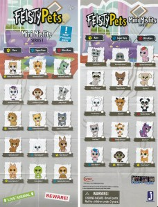 Feisty Pets Mini Misfits Mystery Pack Blind Box Figures List Checklist Insert