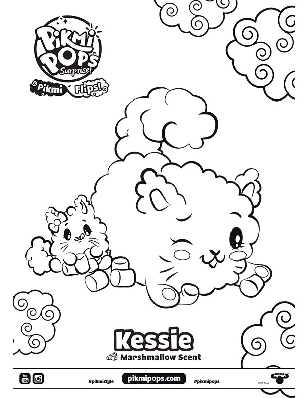 Pikmi Pops Surprise Season 3 Flips Coloring Sheet Kessie