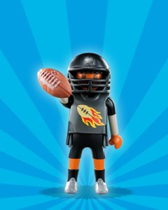 Playmobil Figures Series 1 Boys - American Football Player