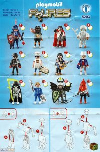 Playmobil Figures Series 1 Boys List Checklist Collector Guide Insert
