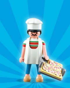 Playmobil Figures Series 1 Boys - Pizza Baker