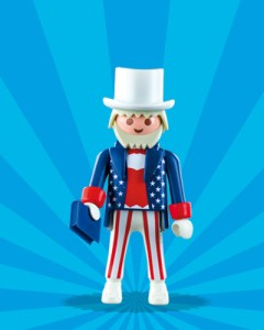Playmobil Figures Series 1 Boys - Uncle Sam