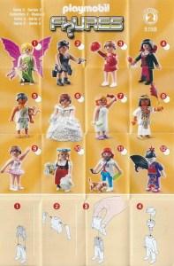 Playmobil Figures Series 2 Girls List Checklist Collector Guide Insert