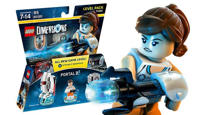 With Portal Gun Lego Portal Chell Minifig Bouwspellen