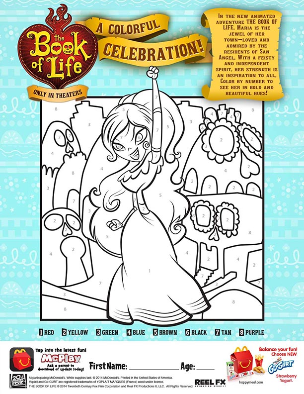 book-of-life-color-by-number-mcdonalds-happy-meal-coloring-activities-sheet