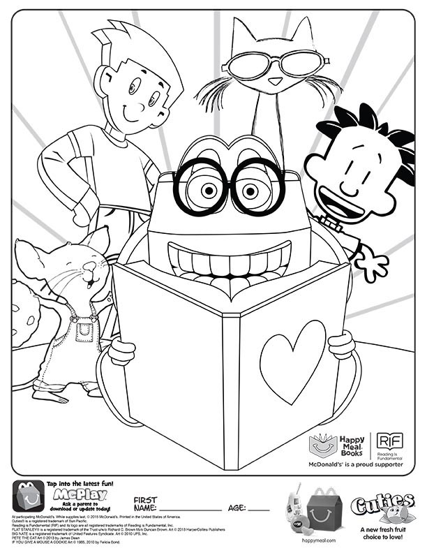 happy meal coloring pages | McDonalds Happy Meal Coloring and Activities Sheet – Happy ...