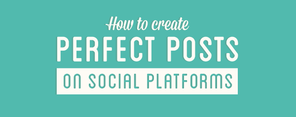 What makes the Perfect Post on Social Platforms?