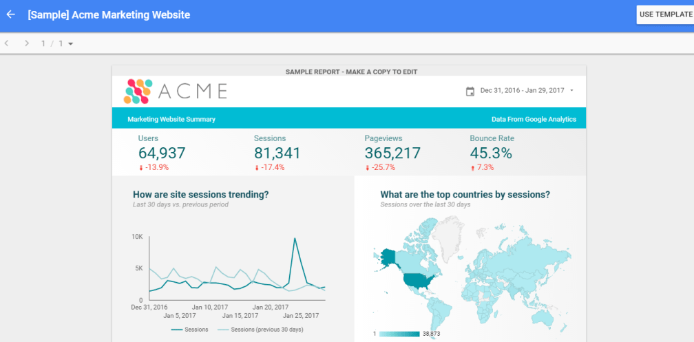 Acme Data Studio Template