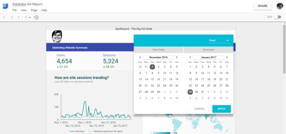 Data Studio Working Report