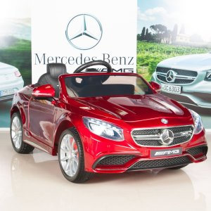 Mercedes-Benz-S63-Ride-on-Car-Kids-RC-Car-Remote-Control-Electric-Power-Wheels-W-Radio-MP3-Red-7-hires