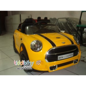 Mini cooper cabrio yellow-1