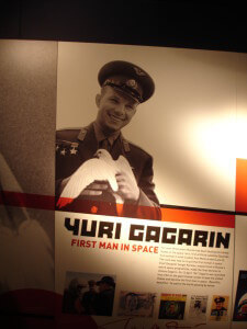 The Science Museum display about Yuri Gagarin