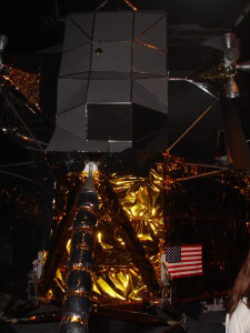 The moon landing vehicle at the Science Museum
