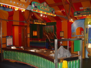 Indoor fairground style games at the WWT London Wetland Centre