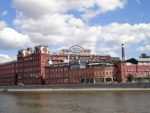 Red October Chocolate Factory from the Moscow River