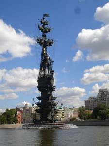 Peter the Great Statue from the Moscow River