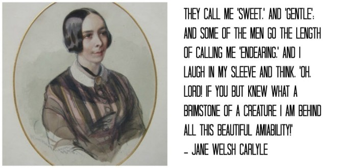 JANE CARLYLE a portrait at Carlyle's House, 24 Cheyne Row, London