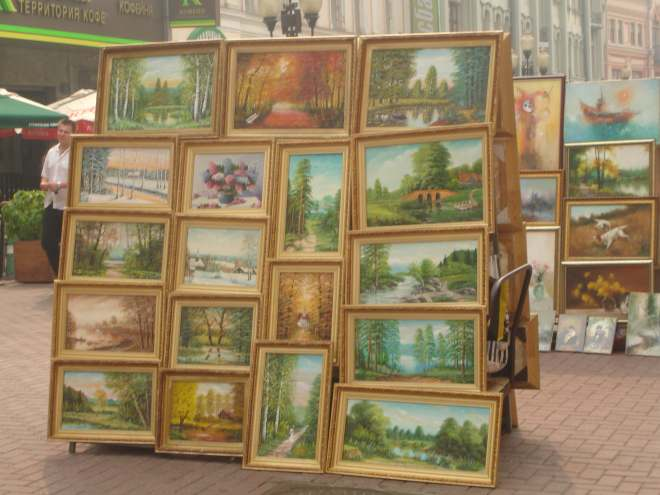 Shishkin knock offs on the Arbat
