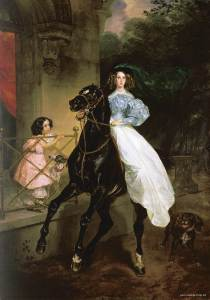 Bryullov's Rider at the Tretyakov Gallery