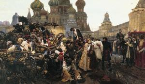 Surikov's Streltsi and Peter the Great at the Tretyakov Gallery
