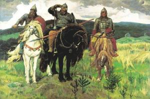 Vasnetsov's Three Bogatyrs at the Tretyakov Gallery