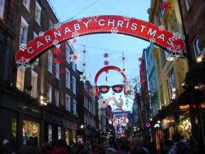Carnaby Street at Christmas