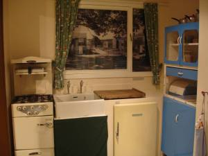 1950s kitchen at Stevenage Museum