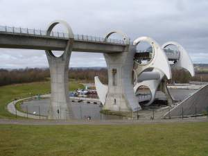 Falkirk Wheel from the side
