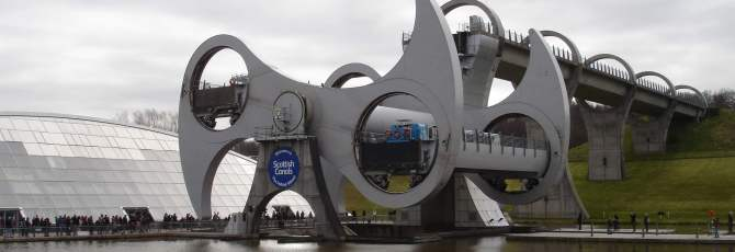 Falkirk Wheel in motion
