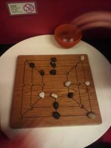 Roman board game at Welwyn Roman Baths