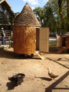 Chicken house at Gorodskaya Ferma VDNH