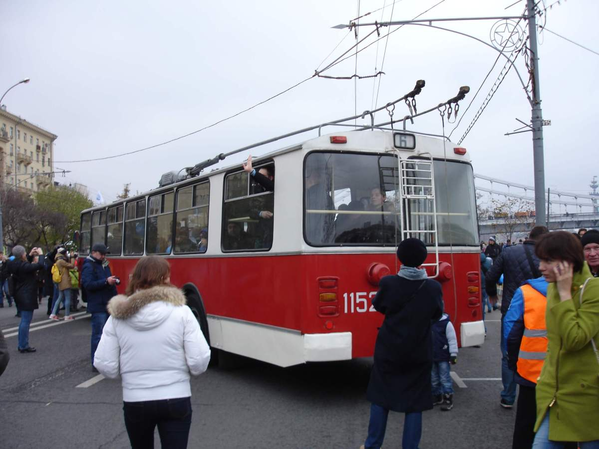 Trolleybus Parade 2015, Moscow