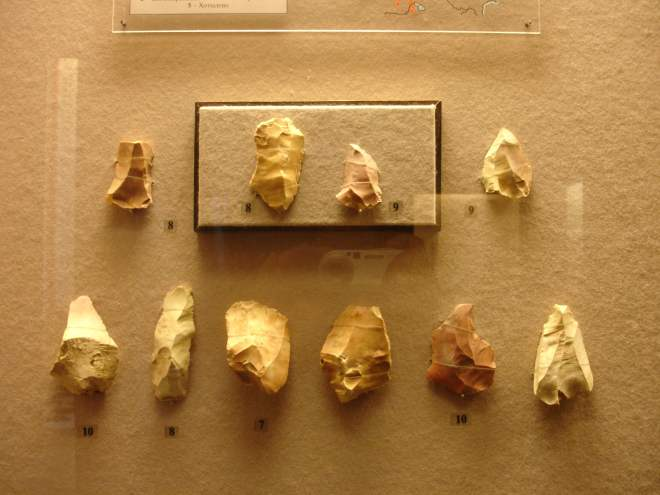 Flint tools State Historical Museum Moscow