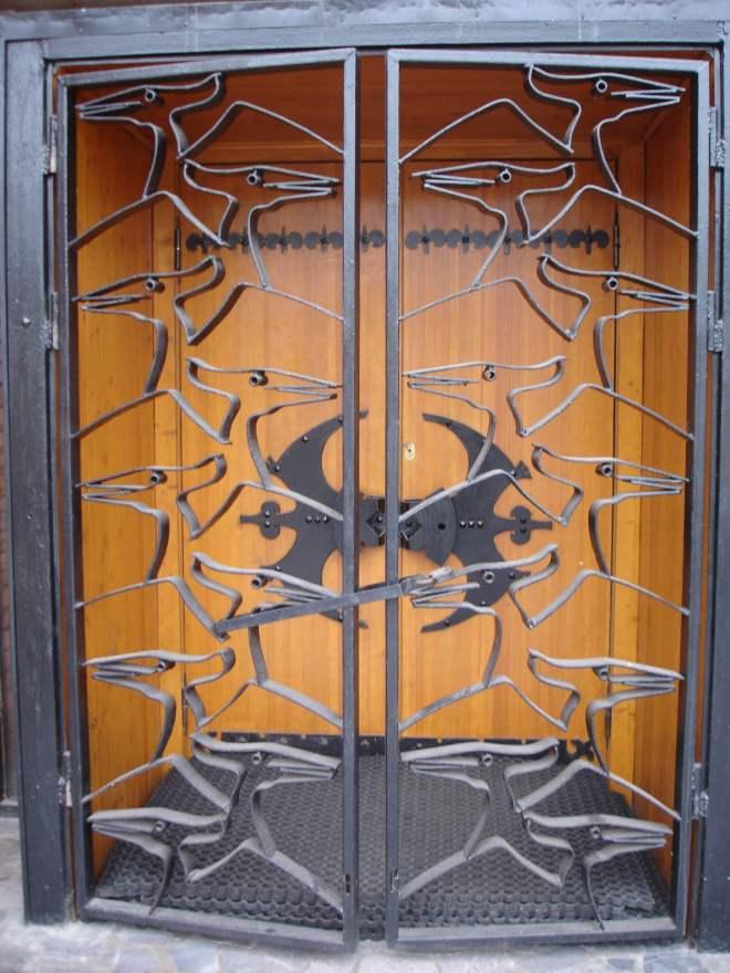 Pterodactyl door Paleontology Museum Moscow