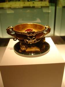 Wooden and gold cup State Historical Museum Moscow
