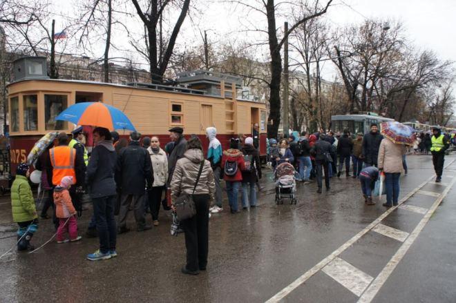 Tram parade at Chistiy Prudiy, Moscow