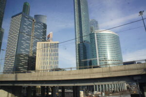 Moscow City from the Central Circle Line