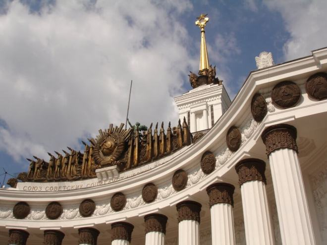 Soviet detailing VDNH Moscow
