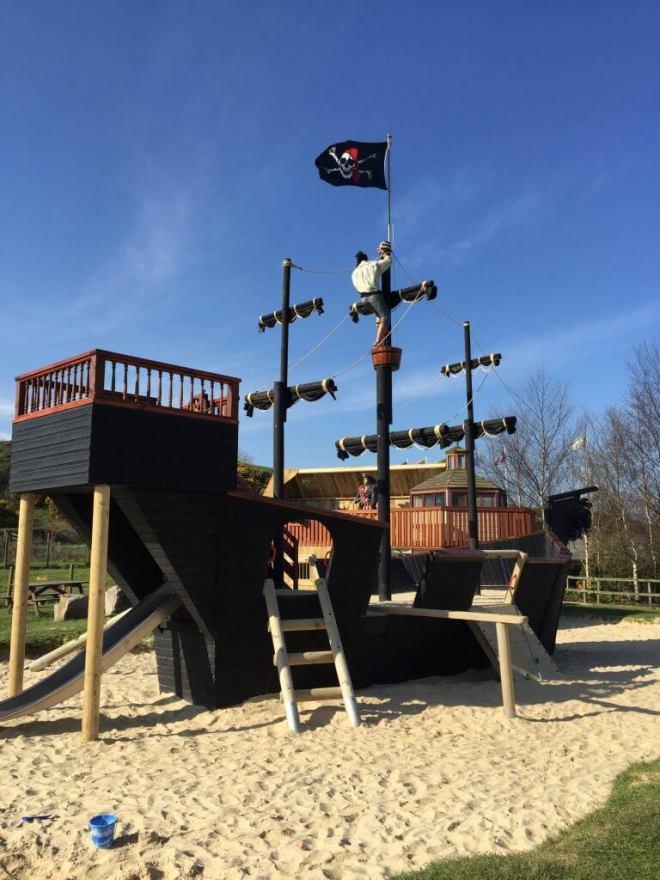 Heads of Ayr Farm Park Pirate ship