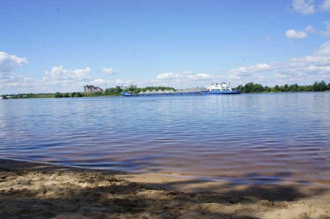 Cargo boat Volga Dubna Russia