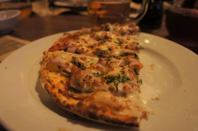 Pizza at La Gatta restaurant Moscow
