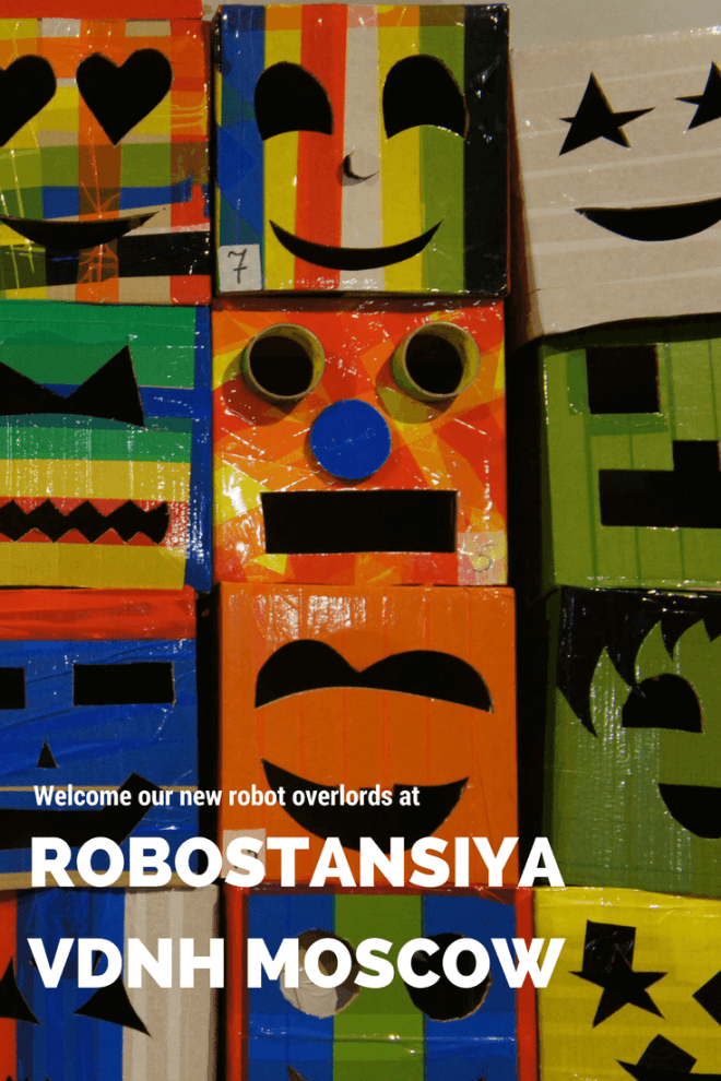 Welcome our new robot overlords at the interactive robot exhibtion and show Robostansiya Robostation at VDNH Moscow