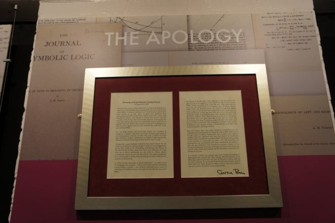 Apology to Turing at Bletchley Park
