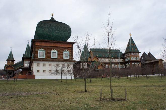 Side of Palace of Tsar Alexey Mikhailovich in Summer Kolomenskoye Moscow