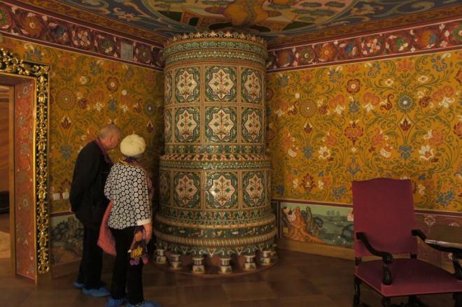 Wallpaper at Palace of Tsar Alexey Mikhailovich Kolomenskoye Moscow
