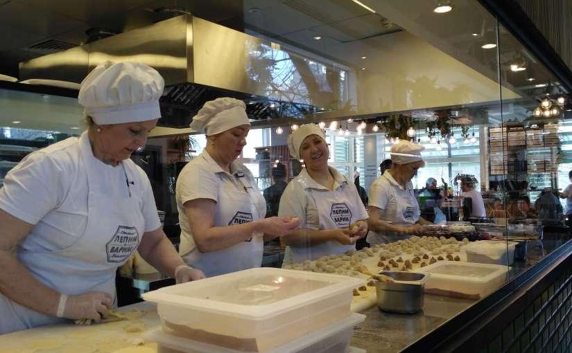 Making traditional pelmeni at Lepim i Varim Moscow